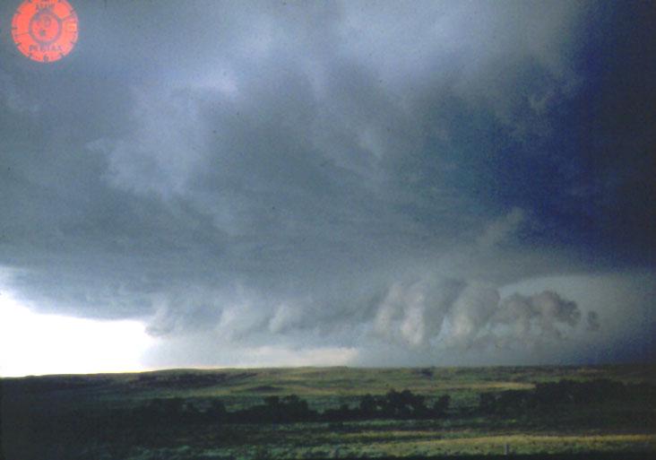 Wall cloud tornado